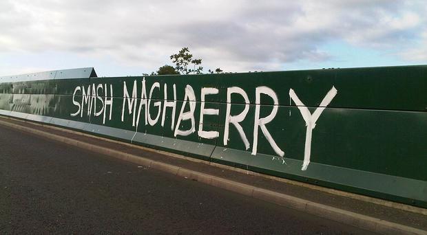 The bridge green expanse of the bridge is a magnet to graffiti artists, says Councillor Niall Kelly