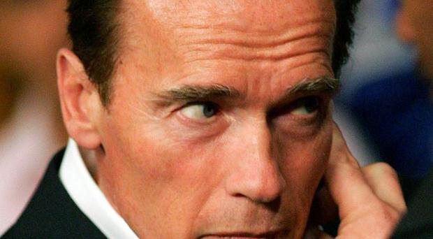 Arnold Schwarzenegger has taunted a fellow politican on Twitter