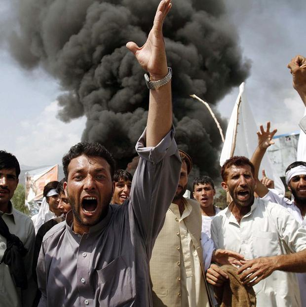 Afghans have staged a number of protests against the idea of the Koran being burned by a US pastor (AP)