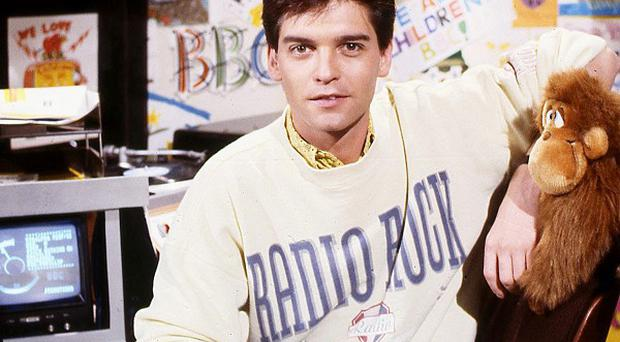 Phillip Schofield on the CBBC children's show, The Broom Cupboard