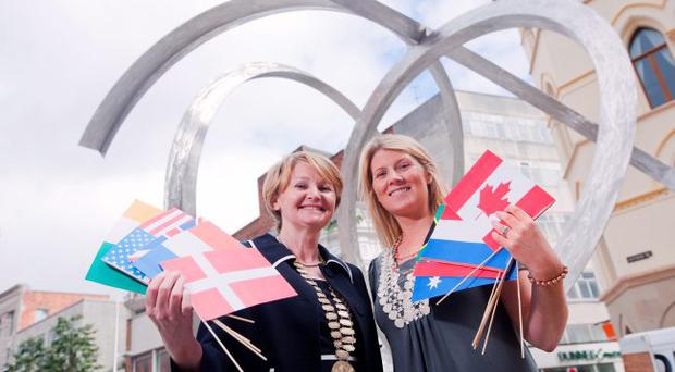 Fiona O'Sullivan, ITOA president (left) and Fiona Cunningham, NITB market manager for the Republic