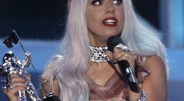 Lady Gaga accepts the award for Video of the Year at the MTV Video Music Awards