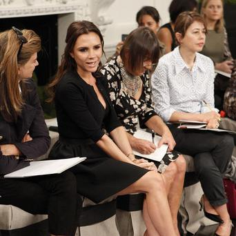 Victoria Beckham makes an appearance at the launch of her Spring 2011 collection