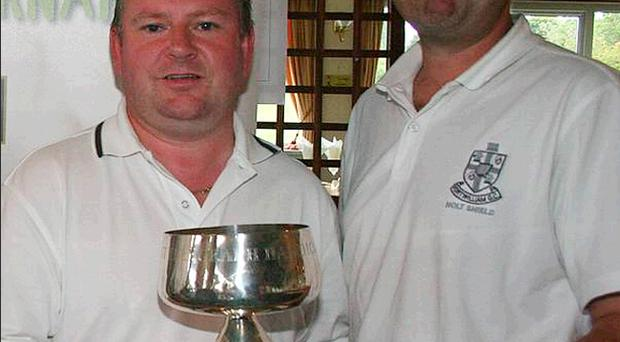 Reigning Belfast Telegraph Foursomes champions Gary Currie and Martin Colohan from Fortwilliam