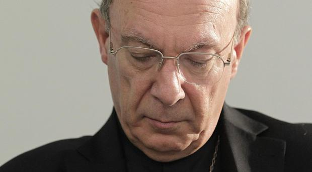 Archbishop Andre-Joseph Leonard said the Catholic Church in Belgium was in deep crisis (AP)