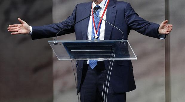 Tony Blair received the 2010 Liberty Medal at the National Constitution Centre in Philadelphia (AP)