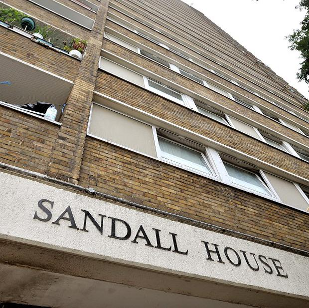 A general view of the Sandall House tower block in Bow, east London