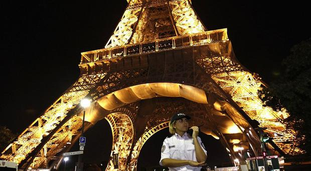 The Eiffel Tower and its immediate surroundings were evacuated (AP)