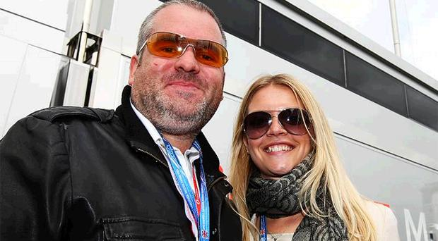 Radio 1 DJ Chris Moyles pictured with ex-girlfriend Sophie Waite