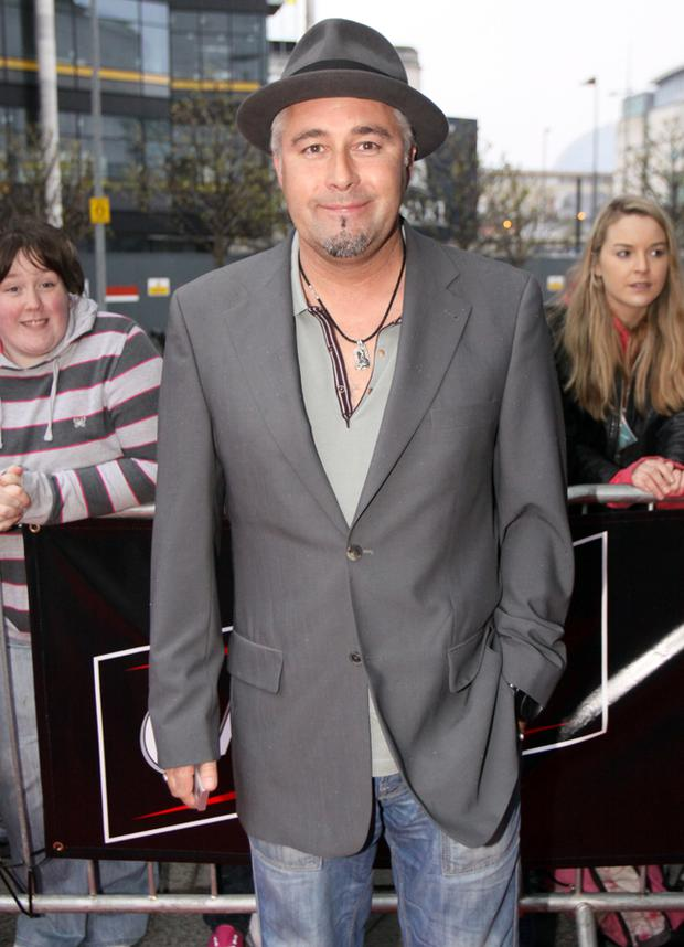 Artist Terry Bradley arriving at the Fate Awards in the Waterfront Hall, Belfast