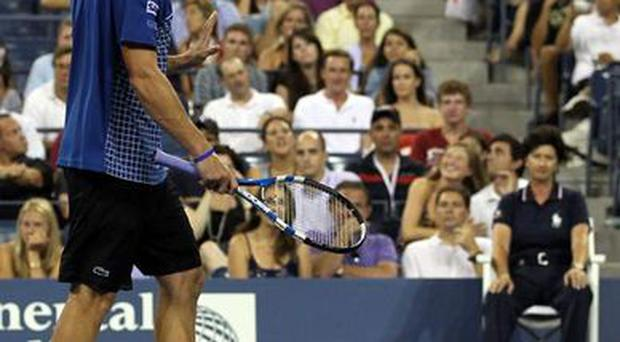 <b>Andy Roddick</b><br/> This was not the first time that the US star has lost it on the tennis court. Earlier this year at the Australian Open, Roddick tripped over the foot of a line judge during his first round match and tumbled to the ground. He then stood and reproached the judge: