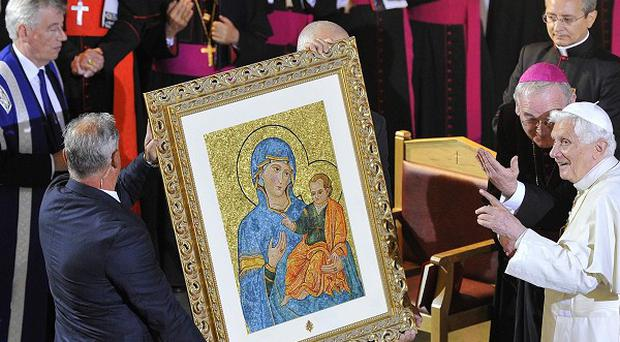 The Pope attends St Mary's University College Chapel in Twickenham