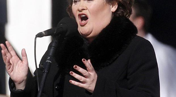 Susan Boyle performs at Bellahouston Park in Glasgow