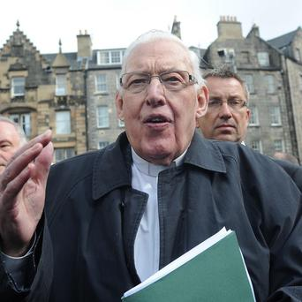 The Reverend Ian Paisley joined a protest in Edinburgh against the visit of Pope Benedict XVI