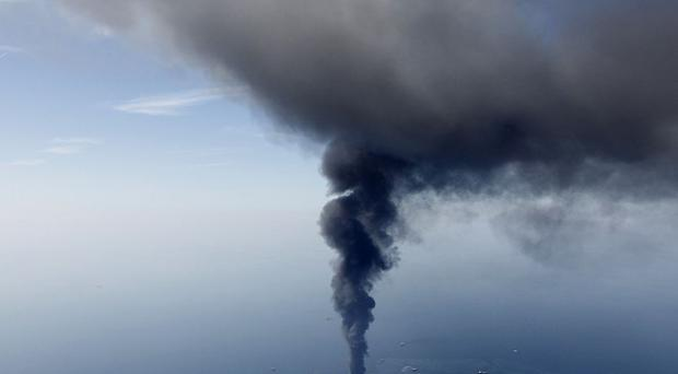 The explosion on the Deepwater Horizon rig caused a major oil leak