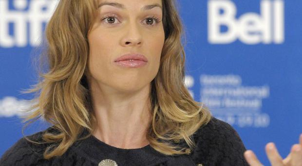 Hilary Swank missed Christmas with her family to film Conviction
