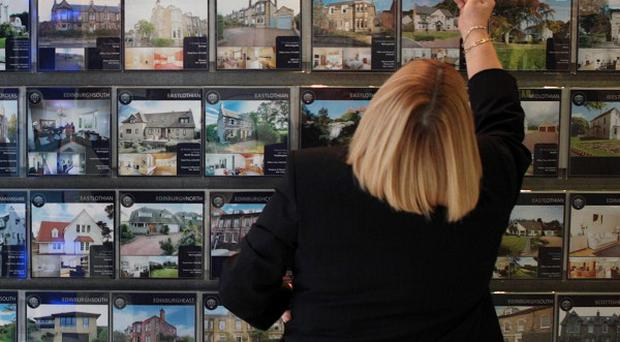Property asking prices fell for the third month in a row during September, figures showed