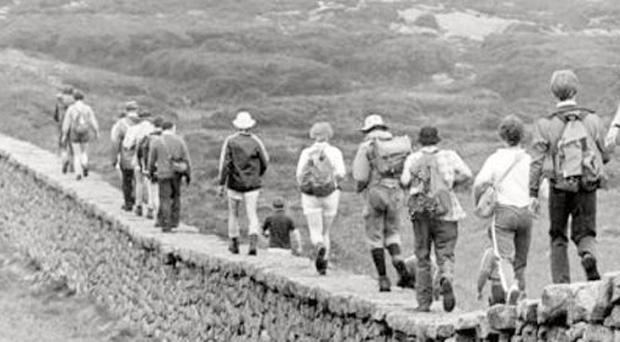 The downhill run, with only two miles to go. 7/6/1982
