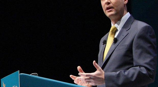 Deputy Prime Minister Nick Clegg addresses the Liberal Democrats' annual conference in Liverpool