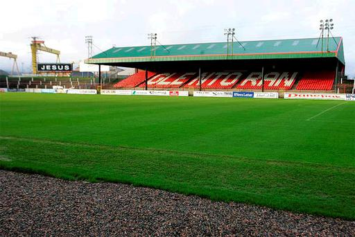 Glentoran are to sell off their football ground's name