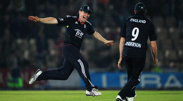 Eoin Morgan scored his second century this year as England wrapped up a 3-2 series win