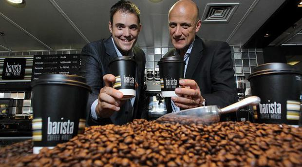 Business Development Manager for Bailies Coffee Ross Kane and Stena Lines Head of Onboard Services Stephen Bryden
