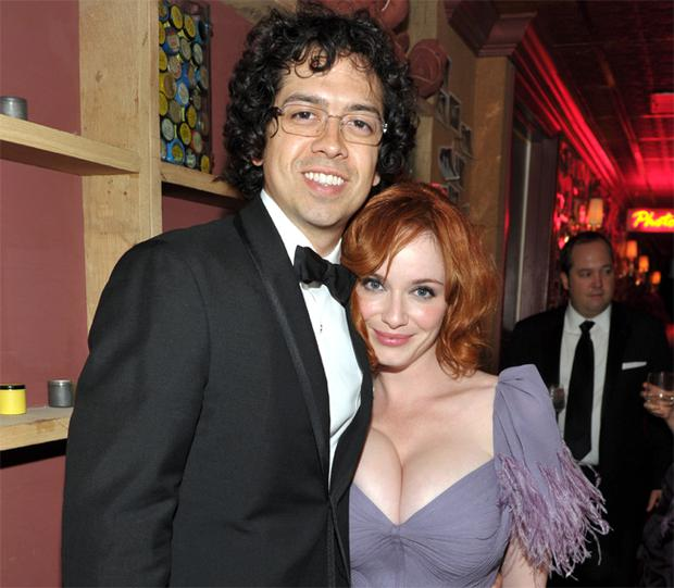 Christina Hendricks pictured with actor husband Geoffrey Arend