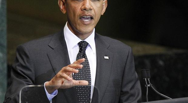 Barack Obama has urged the United Nations to rally round peace efforts for the Middle East (AP)