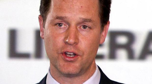 Nick Clegg will pledge before the United Nations to restore Britain's reputation