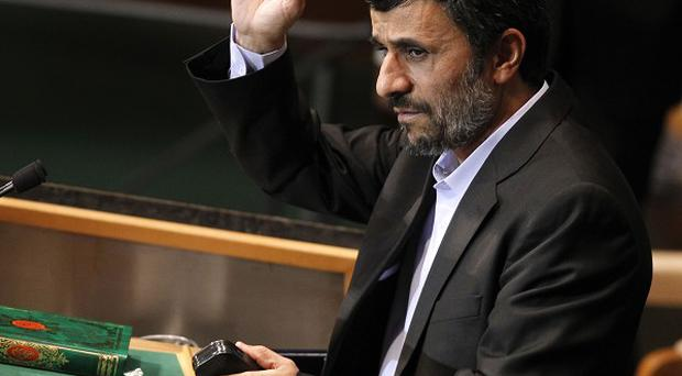 Iranian President Mahmoud Ahmadinejad's speech sparked a walkout by a number of delegates (AP)