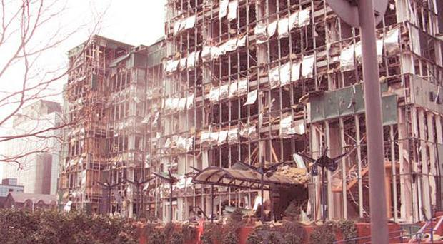 The IRA was behind the bombing in Canary Wharf, London, in 1996