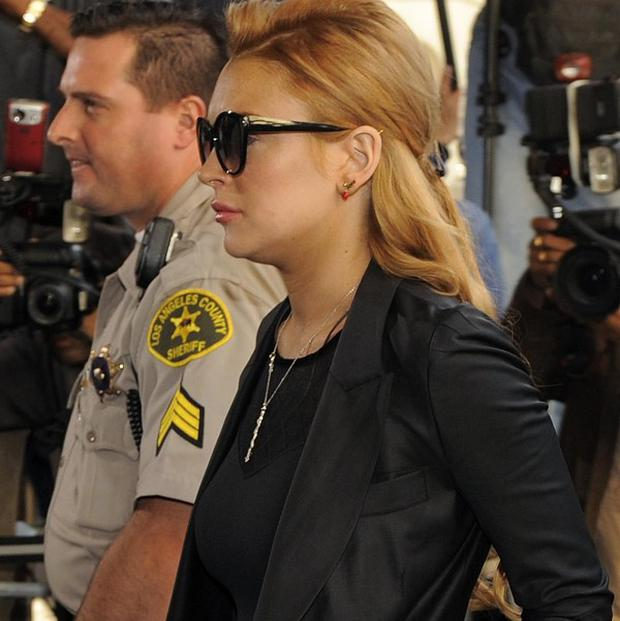 Lindsay Lohan was jailed at the Beverly Hills Courthouse in California (AP)