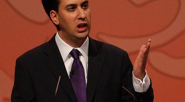Ed Miliband addresses delegates after winning the race to become the new leader of the Labour Party