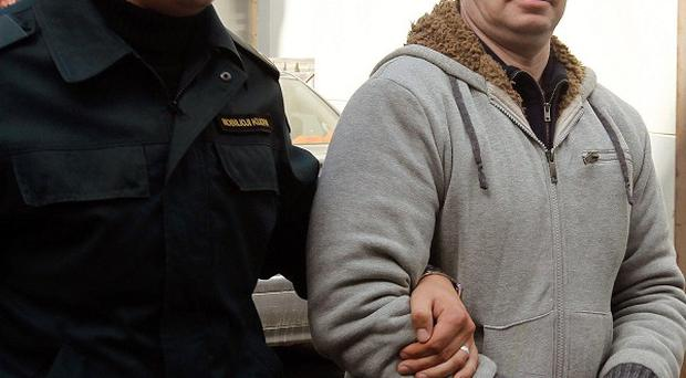 Alleged IRA dissident Michael Campbell is on trial in Vilnius, Lithuania (AP)