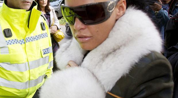 Katie Price denies not being in proper control of a vehicle