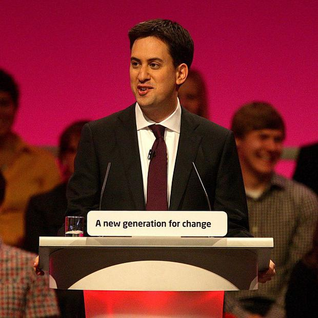 Leader of the Labour Party Ed Miliband delivers his maiden keynote speech at the Labour Party's annual conference in Manchester