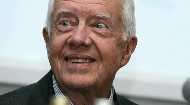 Former US president Jimmy Carter has been taken to hospital in Ohio
