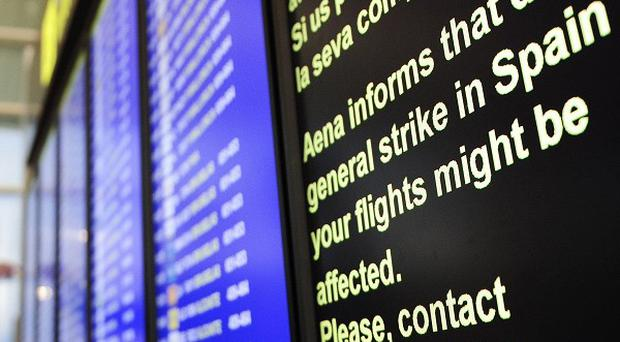 Air passengers have been warned to expect disruption as a result of strikes in Spain