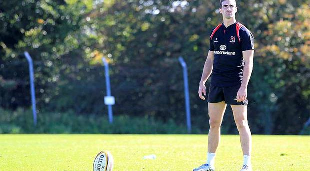 Ruan Pienaar getting in some practice yesterday ahead of making his Ulster debut