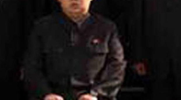 The image of Kim Jong Un published by North Korean state media