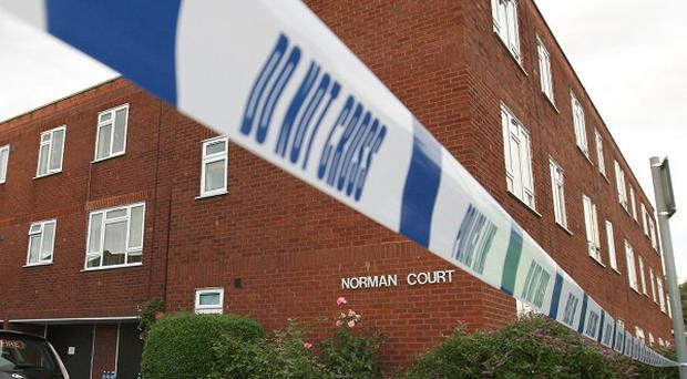 Norman Court, in Putney, south-west London, where the bodies of two women were discovered inside a flat