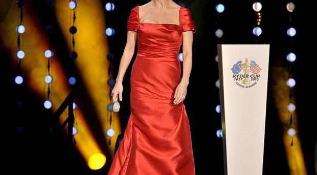 Catherine Zeta Jones at the Welcome to Wales concert at the Millenium Stadium in Cardiff