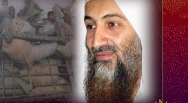 Osama bin Laden called for a Muslim disasters relief body in an audio tape (AP/SITE Intelligence Group)