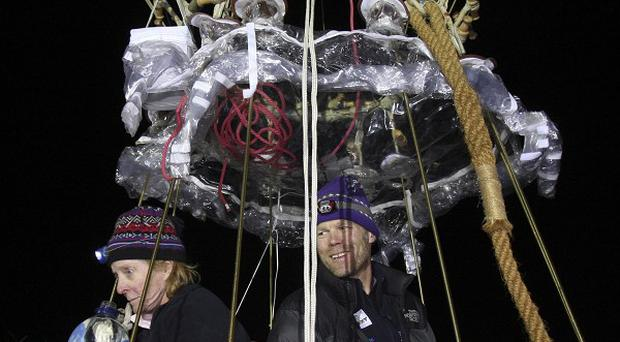 Balloonists Carol Rymer Davis, left, and Richard Abruzzo are believed to be dead after going missing during a race (AP)