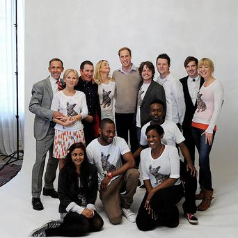 Lisa Maxwell took part in a photoshoot with Prince William