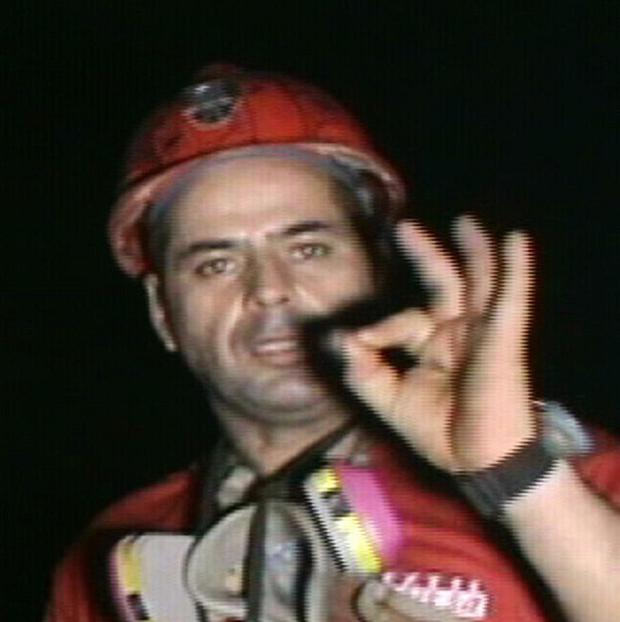 Miner Mario Sepulveda is trapped in the collapsed San Jose mine in Copiapo, Chile (AP)