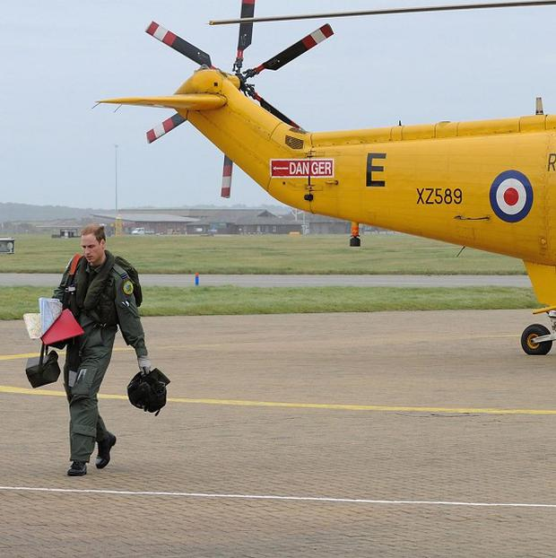 Prince William has taken part in his first mission as a search and rescue helicopter co-pilot