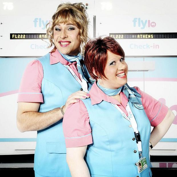 David Walliams and Matt Lucas play Melody and Keeley in Come Fly With Me