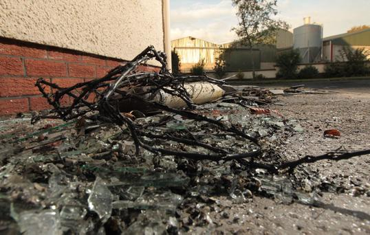 A family near Newry Co Down had a lucky escape when their house was struck by lightning, blowing a hole in the roof and sparking a power shortage