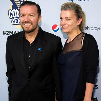 Ricky Gervais and Jane Fallon went on a diet